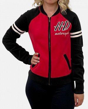 Женская куртка бомбер Harley-Davidson – новая модель в трендовом сезонном образе №1009