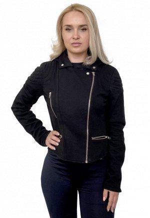 Женская куртка Harley-Davidson – трикотажная косуха с капюшоном – тренд новой коллекции №1012
