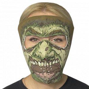 Неопреновая медицинская полнолицевая маска Skulskinz Zombie - Обеспечивает надежную защиту в период пандемии, максимально удобна для поездок на велосипедах, электросамокатах, моноколесах, мотоциклах,