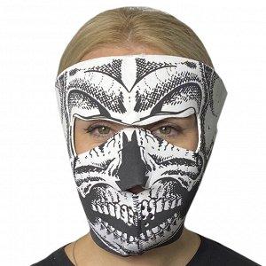 Полнолицевая антивирусная маска Skullskinz Skeleton - Яркий дизайн, высокая степень защиты от коронавируса, пыли, влаги, ветра, простота в использовании. Многоразовая маска изготовлена из неопрена. Ог