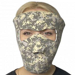 Тактическая медицинская полнолицевая маска Skulskinz Acupat - Неопреновая маска обеспечивает защиту от коронавируса, ветра, пыли, камушков, веток. Многоразовая тактическая маска изготовлена в камуфляж