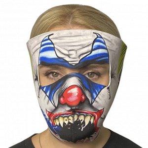 Медицинская антивирусная маска c ярким принтом Skulskinz Joker - Полнолицевая защитная маска из неопрена позволяет получить достаточную защиту от вирусов, пыли, ветра, влаги. Кроме того, маска многора
