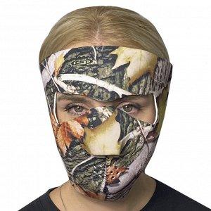 Полнолицевая медицинская маска Skulskinz Realtree Camo - Защитная маска в камуфляже Realtree. Гарантирует защиту от коронавируса, а также ветра, пыли, дождя. Идеальный вариант для активных и свободных