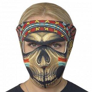 Полнолицевая защитная неопреновая маска Wild Wear Shaman - Актуальное сочетание полной защиты от коронавируса, функциональности и удобства, многоразовости, яркого уникального дизайна. Подходит в качес