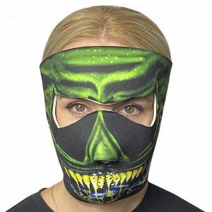 Стильная полнолицевая маска с защитой от коронавируса Wild Wear Swamp Thing - Хит сезона пандемии - неопреновые защитные маски с ярким horror-дизайном! Гарантируют защиту от вирусов, пыли, ветра, дожд