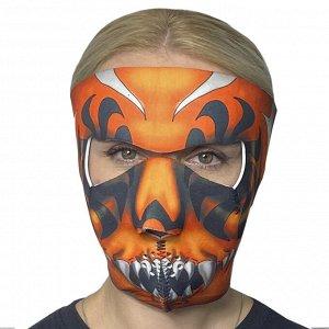 Яркая анти-ковид маска Wild Wear Cult - Уникальный сочный принт, качественный неопреновый материал, обеспечивающий защиту от вирусов, ветра, влаги, пыли. Хит сезона среди защитных полнолицевых масок!