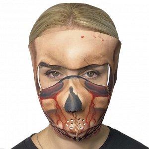 Неопреновая полнолицевая антивирусная маска Wild Wear Dark Lord - Яркий убойный дизайн принта подчеркивает индивидуальность свободных духом людей! Многоразовая маска подходит в качестве медицинской ма