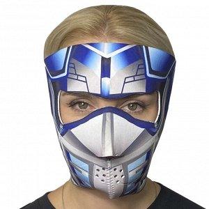 Неопреновая полнолицевая маска с защитой от ковида Wild Wear Cyber Predator - Яркий дизайн, высокая степень защиты от коронавируса, пыли, влаги, ветра, простота в использовании. Ограниченная поставка