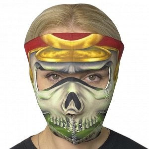 Полнолицевая стильная маска с защитой от короновируса Wild Wear Ancient One - Лучший вариант в период пандемии! Максимальная защита, многоразовость, удобство в ношении, уникальный дизайн! Материал - н