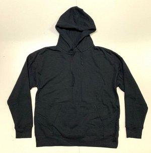 Толстовка мужская черного цвета с капюшоном  №7265