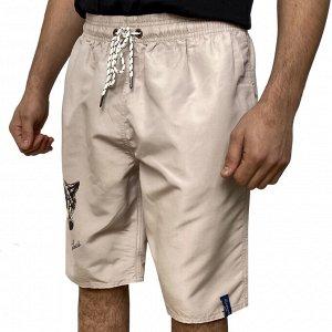 Светлые мужские шорты с принтом волков от Septwolves №5018