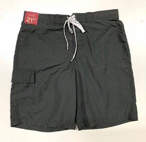 Шорты мужские черные с накладным карманом    №7257