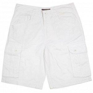 Белые мужские шорты Oak Ripe. Качественный пошив, 100% хлопок  №2310