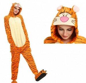 """Кигуруми """"Тигр"""", унисекс, цвет оранжевый"""
