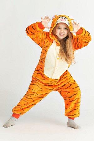 "Кигуруми ""Тигр"", детский, цвет оранжевый"