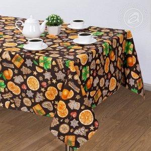 Скатерть Артпостель: Цитрус коричневый 120*145