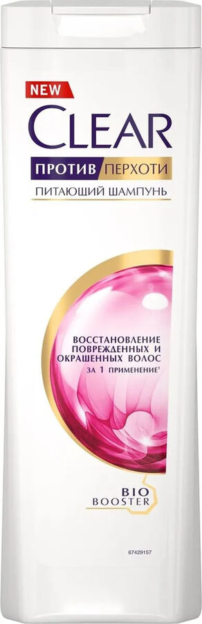Шампунь женский Восстанавливающий для поврежденных и окрашенных волос (против перхоти) Clear  400мл