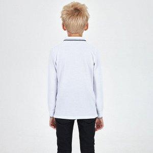 Джемпер-поло для мальчика, белый