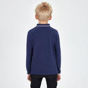 Джемпер-поло для мальчика, темно-синий