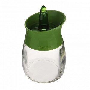 Емкость для специй, 200 мл, стекло, пластик, колор, HEREVIN