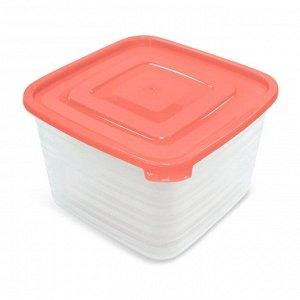 Набор контейнеров 3 шт, 1,4 л, 0,9 л, 0,45 л, квадратный, пластик, УНИКО