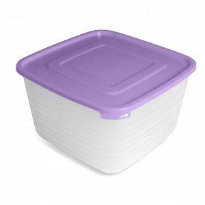 Набор контейнеров 4 шт, 2,1 л, 1,4 л, 0,9 л, 0,45 л, квадратный, пластик, УНИКО