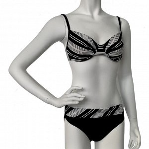 Черно-белый раздельный купальник Sunmarin №793