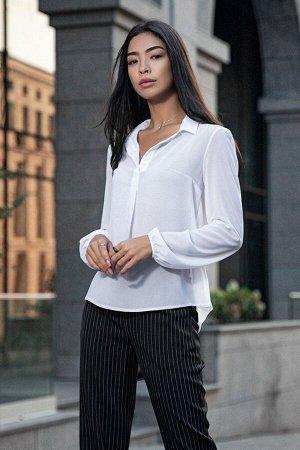 Белая шифоновая блуза с длинным рукавом Лили 21275 от It Elle