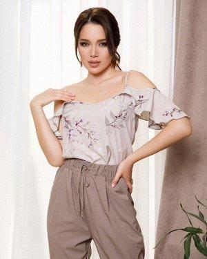 Блузы SA-239_серый от ISSA PLUS