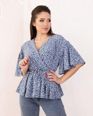 Блузы SA-171_синий от ISSA PLUS