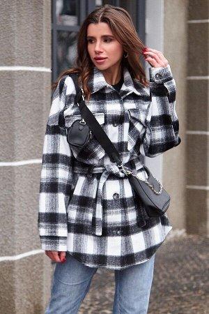 Пальто-рубашка Нетти черный от Jadone Fashion