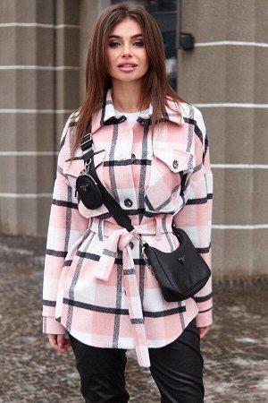 Пальто-рубашка Нетти розовый от Jadone Fashion
