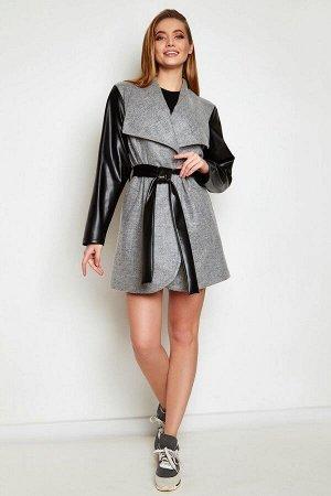 Облегченное пальто Отто серый от Jadone Fashion