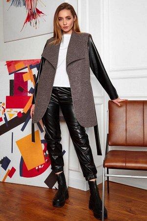 Облегченное пальто Отто лиловый от Jadone Fashion