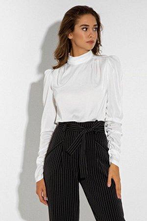 Шелковая белая блуза с длинным рукавом Агнесса 21243 от It Elle