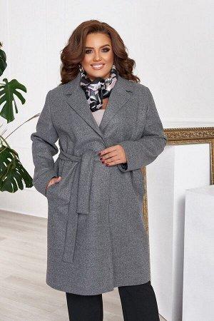 Пальто женское кашемировое большого размера с подкладкой и поясом 1311-3 от So StyleM