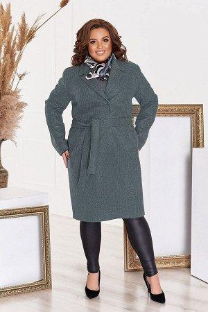 Пальто женское кашемировое большого размера с подкладкой и поясом 1311-5 от So StyleM