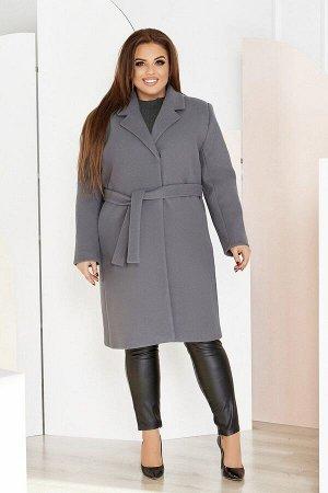 Пальто женское большого размера кашемировое 1320-1 от So StyleM