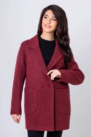Пальто-пиджак Бланка марсала 47-55-1 от Emass