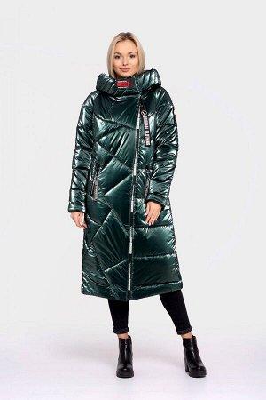 Пальто женское зимнее DAKOTA OFF (цвет изумрудный) 2429 от Vicco