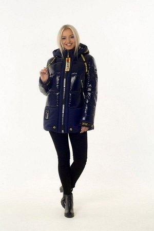 Куртка женская зимняя OFF WHITE (цвет тёмно-синий) 2454 от Vicco
