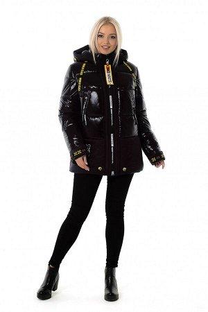 Куртка женская зимняя OFF WHITE (цвет черный) 2424 от Vicco