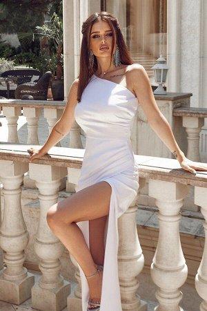 Белое платье в пол 7353-04 от Tivardo