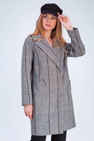 Пальто Джил коричнево-белый 197-44-1 от Emass