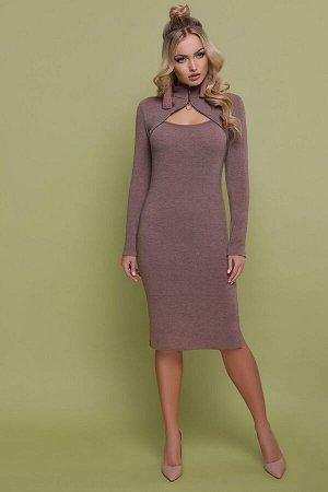 Платье Альбина д/р капучино p45197 от Glem