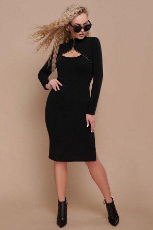Платье Альбина д/р черный p45194 от Glem