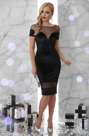 Платье Владана к/р черный p45735 от Glem