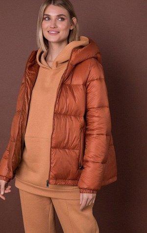 Теплая стеганная куртка-трапеция MR 202 2597 0820 Pumpkin от MR520