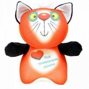 """Антистрессовая игрушка """"Курносики. Кошечка рыжая"""" 20х24см, т"""