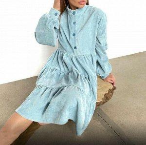 Платье микровельвет без выбора цвета